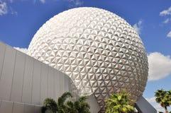 迪斯尼在Epcot的太空飞船地球在奥兰多,佛罗里达 库存图片