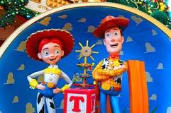 迪斯尼玩具木质故事的字符和jessie 免版税库存图片