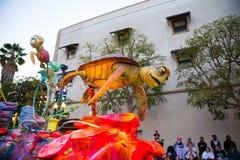 迪斯尼皮克斯游行加利福尼亚冒险 免版税库存照片