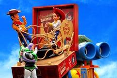 迪斯尼迪斯尼乐园游行故事玩具 库存图片