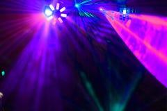 迪斯科。激光展示。 免版税库存照片