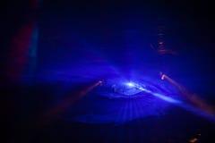 迪斯科光展示,阶段光 库存照片