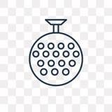 迪斯科球在透明背景隔绝的传染媒介象,linea 向量例证