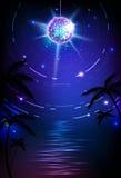 迪斯科球背景。迪斯科海报 免版税库存照片