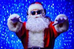 迪斯科聚会圣诞老人 库存图片