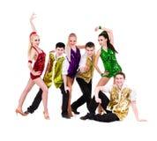 迪斯科舞蹈演员小组 库存图片