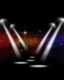 迪斯科音乐会聚光灯 库存图片
