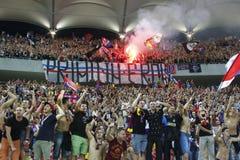 迪纳莫队布加勒斯特Steaua布加勒斯特 库存图片