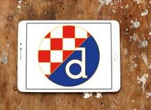 迪纳莫队萨格勒布橄榄球俱乐部商标 免版税库存照片