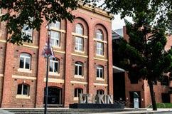 迪肯大学在吉朗 免版税库存照片