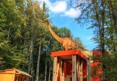 迪诺公园, Rasnov -罗马尼亚 免版税库存图片