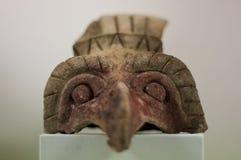 从迭戈・里韦拉的汇集的Anahuacalli博物馆阿兹台克雕塑头 免版税库存图片