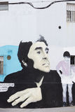 迭戈・马拉多纳街道画在布宜诺斯艾利斯,阿根廷 免版税库存照片