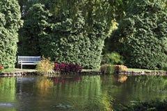 迷人庭院美丽如画的sigurta 库存图片