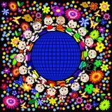 迷人的儿童地球 库存照片