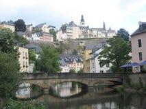 迷人的卢森堡市 图库摄影