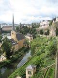 迷人的卢森堡市 免版税库存图片