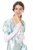 迷人的夫人维多利亚女王时代的年轻&# 库存图片