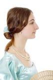 迷人的夫人维多利亚女王时代的年轻&# 免版税库存图片