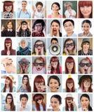 迷人的女实业家的综合图象请求沈默 免版税库存照片
