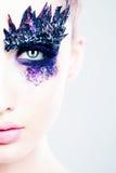 迷人的时尚构成 眼睛特写镜头 库存照片