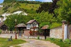 迷人的法国村庄 库存图片