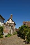 迷人的法国gerberoy村庄 免版税库存照片