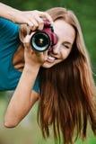 迷人的照片纵向年轻人 库存图片