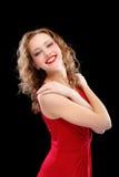 迷人的礼服夜间夫人红色 图库摄影