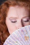 迷人的纵向妇女 免版税库存照片