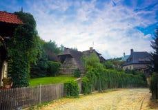 迷人的老村庄 库存图片