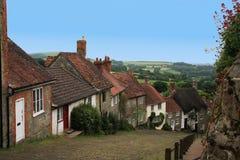 迷人的英国村庄 免版税库存照片