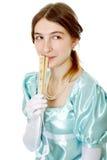 迷人的年轻维多利亚女王时代的夫人 免版税库存照片
