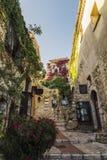 迷人的Provencal房子在Eze,彻特d ` Azur,法国 免版税库存图片