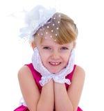 迷住和非常时兴的小女孩 库存照片