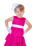 迷住和非常时兴的小女孩 免版税库存图片