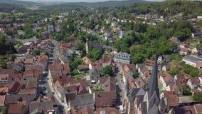 迷住称绍滕的小的镇鸟瞰图,德国 影视素材