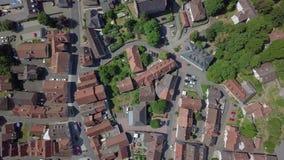 迷住称绍滕的小的镇鸟瞰图,德国 股票视频
