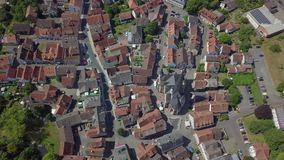 迷住称绍滕的小的镇鸟瞰图,德国 股票录像