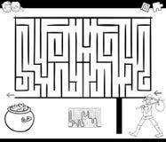 迷宫与流浪汉的活动比赛 皇族释放例证