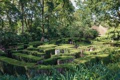 迷宫在游乐园Efteling 免版税库存图片