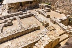 迷宫在Knossos宫殿 库存照片
