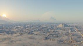 迷宫废墟在沙漠 库存图片