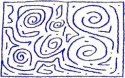 迷宫样式第6概略的设计为背景或前景使用 向量例证