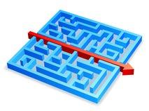 迷宫概念 向量例证