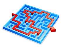 迷宫概念 库存例证