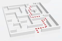 迷宫正确的方式 免版税库存照片
