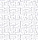 迷宫白色背景 免版税库存图片