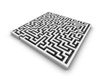 迷宫白色 免版税库存照片