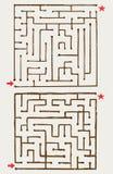 迷宫的例证 免版税图库摄影